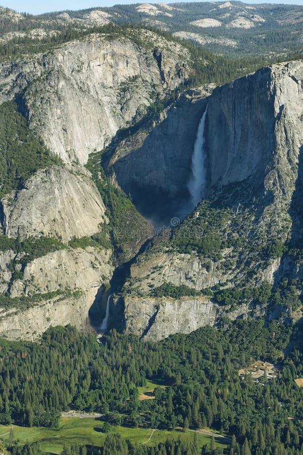 Ober und fällt niedriger in Yosemite Nationalpark stockfoto