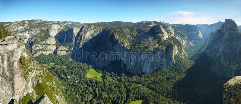 Ober und fällt niedriger in Yosemite Nationalpark stockbilder