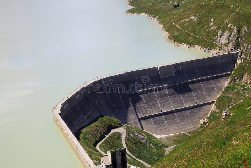 Oberaar Barrier湖  库存图片