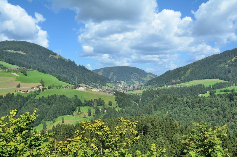 Oberau, vallée de Wildschoenau, le Tirol, Autriche photos stock