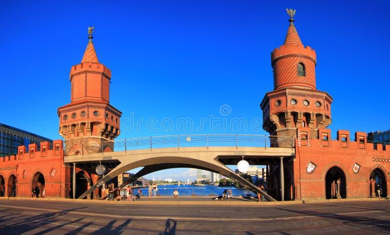 Oberbaum桥梁,德国 库存照片