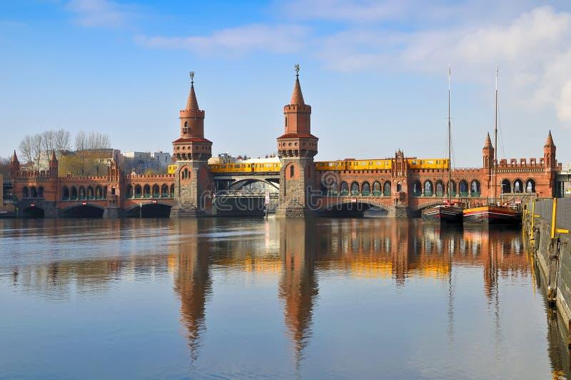 Oberbaum bridge berlin stock images