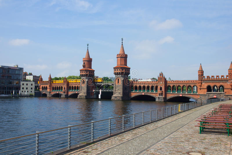 Oberbaumbridge, Берлин стоковое фото rf