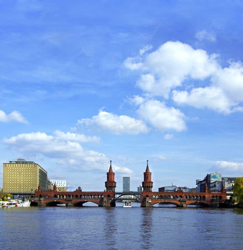 Oberbaumbruecke bridge berlin royalty free stock images