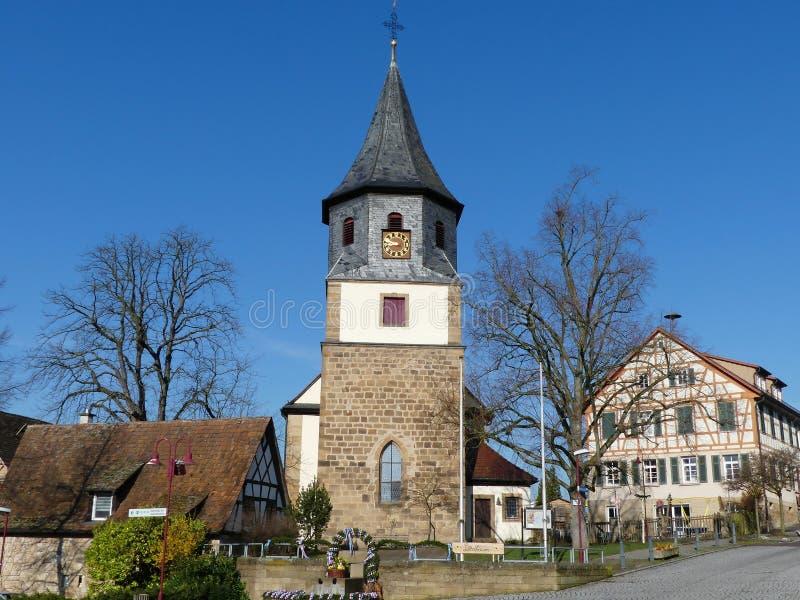 Oberderdingen wioska, wioska Niemcy obrazy royalty free