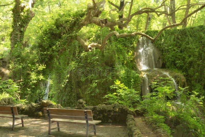 Obere Duden-Wasserfälle in Antalya stockbild