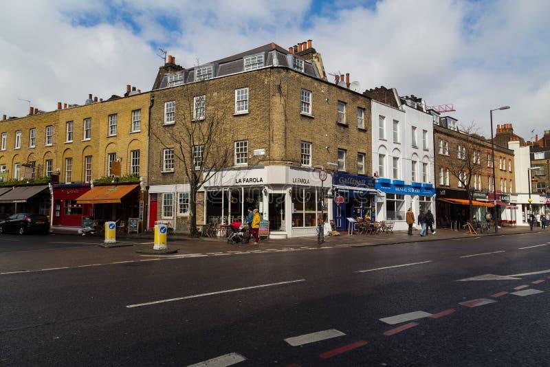Obere Straße in London stockbilder