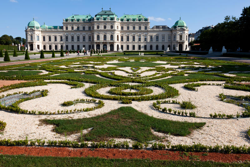Oberer Belvedere-Palast stockfotografie