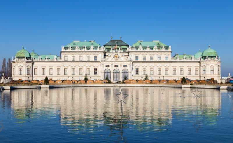 Oberer Belvedere-Palast, Wien, Österreich stockbilder