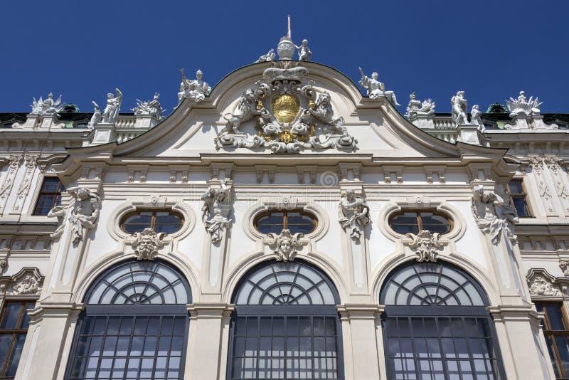 Oberer Belvedere-Palast - Wien - Österreich lizenzfreies stockfoto