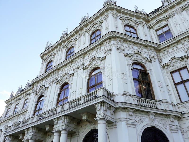 Oberer Belvedere-Palast in Wien lizenzfreies stockfoto