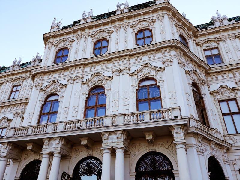 Oberer Belvedere-Palast in Wien lizenzfreie stockfotos