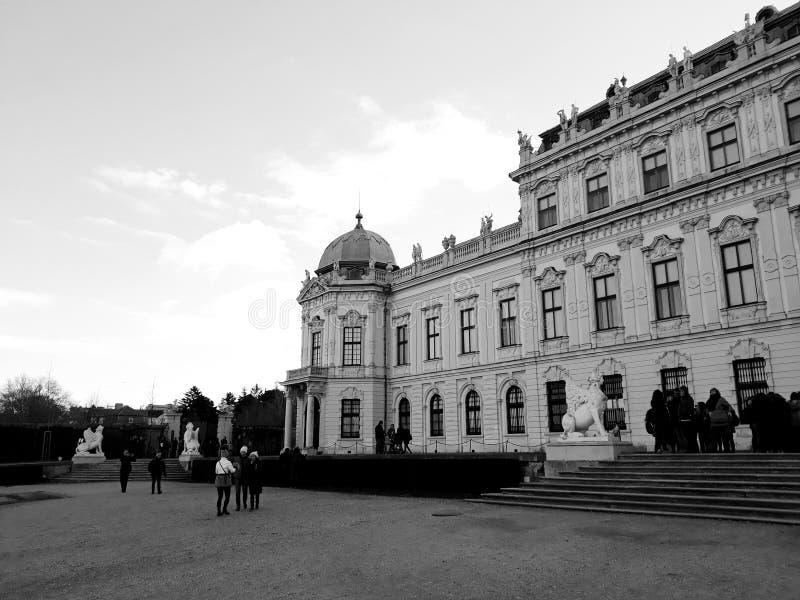 Oberer Belvedere-Palast in Wien lizenzfreies stockbild