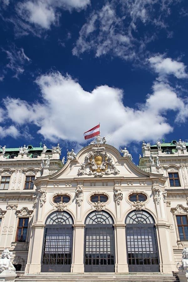Oberer Belvedere-Palast in Wien stockfotografie