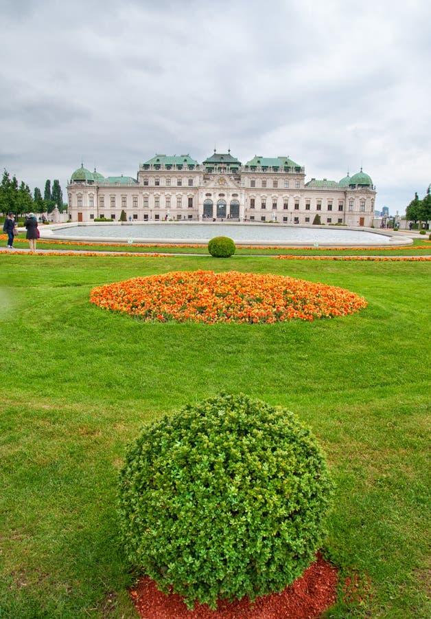 Oberer Belvedere-Palast in Wien lizenzfreie stockbilder