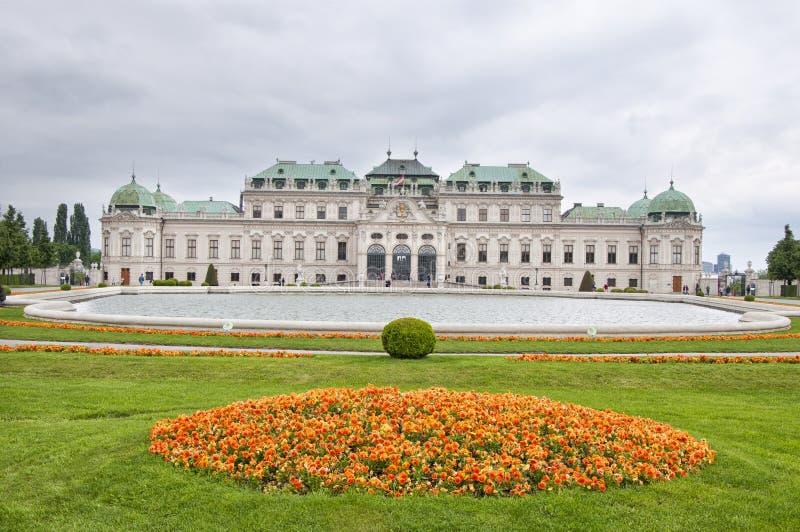 Oberer Belvedere-Palast in Wien stockfoto