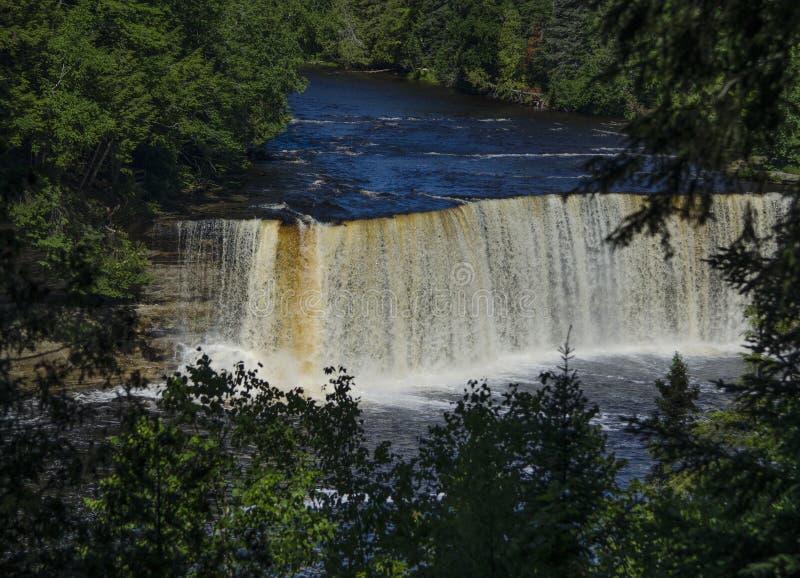 Oberes Tahquamenon fällt in Michigan lizenzfreies stockbild