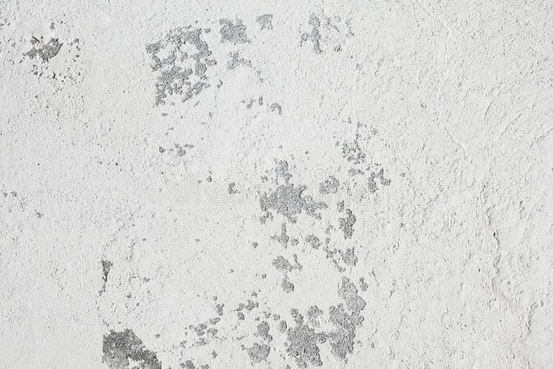 Oberfläche der Wand mit verwittertem Whitewash stockfotografie