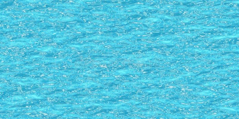 Oberfläche des blauen Wassers mit Höhepunkten - Illustration 3D vektor abbildung