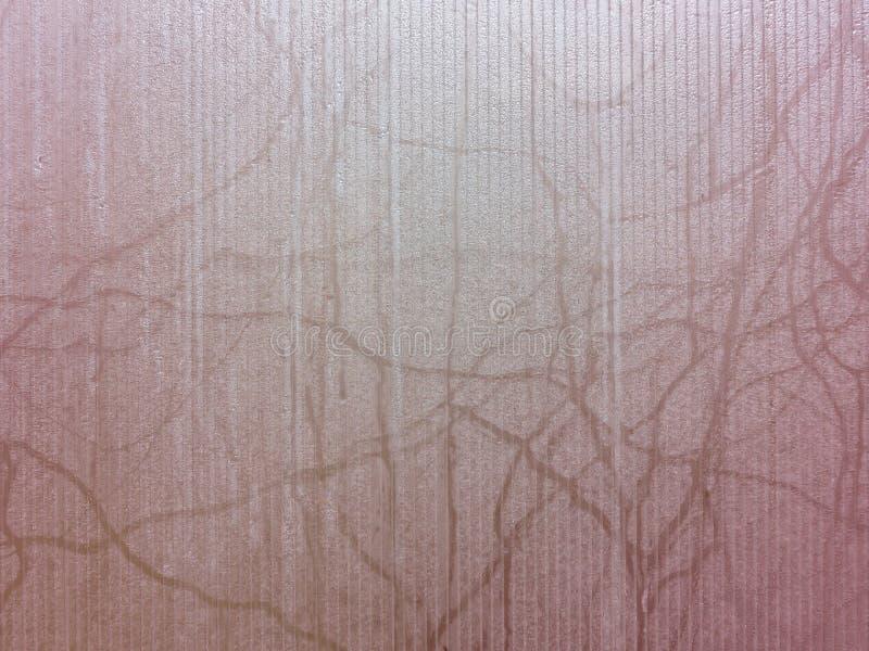 Oberfläche des misted Glases, rosa Beschaffenheit, Hintergrund lizenzfreies stockfoto