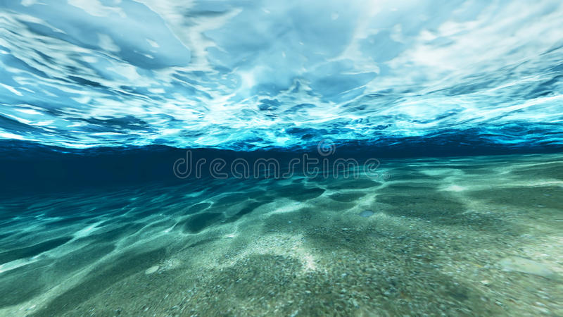 Oberfläche des Sandes unter Wasser stock abbildung
