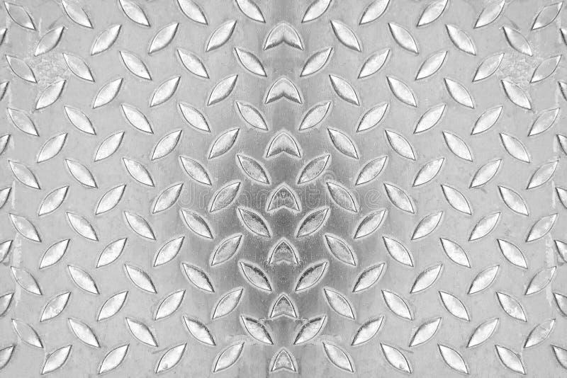 Oberfläche des Stahlgehwegbodenhintergrundes stockbilder
