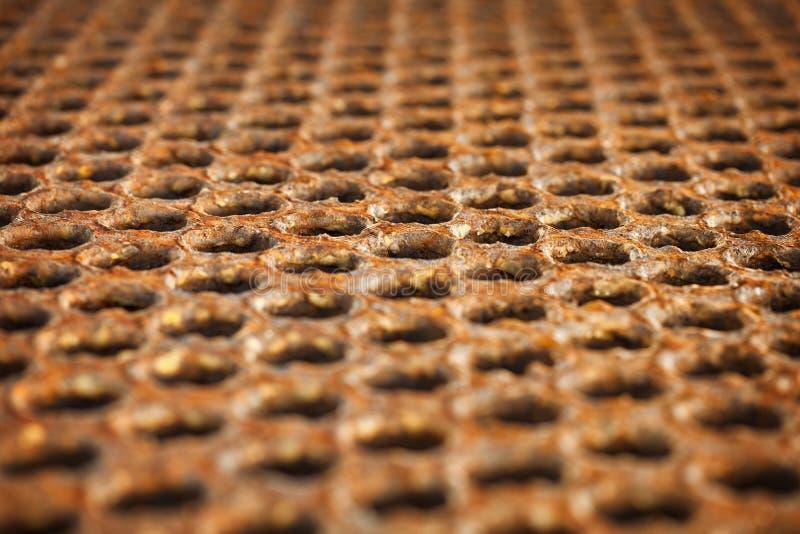Oberfläche eines rostigen Metallfußbodens lizenzfreie stockfotos