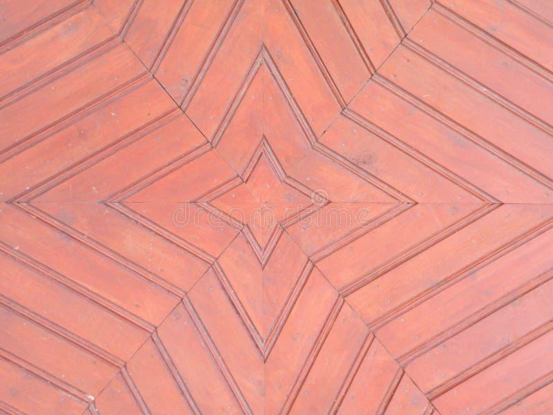 Oberflächenbeschaffenheit der alten roten Holztüren stockbilder