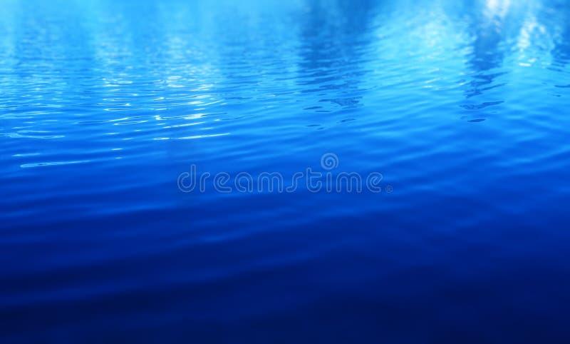 Oberflächenhintergrund des blauen Wassers stockfotos