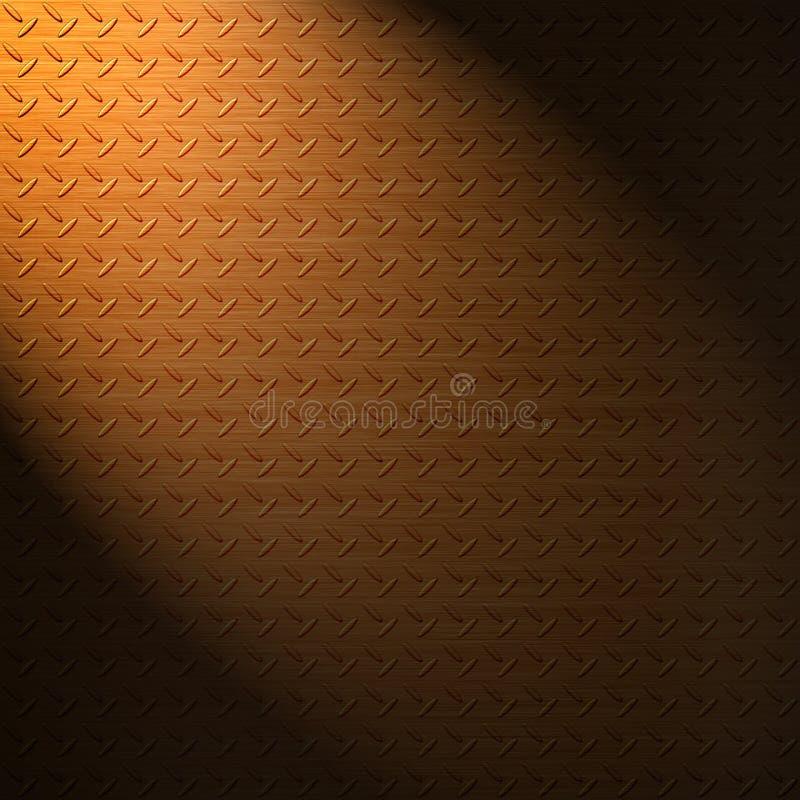 Oberflächenhintergrund des Diamantdicken kupferblechs lizenzfreie abbildung