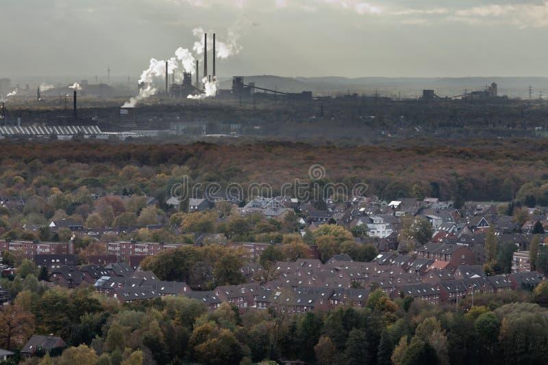 Oberhausen industry of Ruhr Area Germany Europe stock image