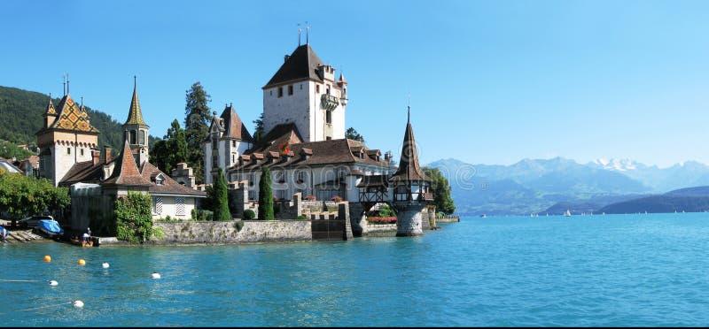 Oberhofen castle royalty free stock photo