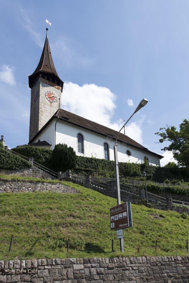 Oberhofen, Svizzera immagini stock libere da diritti