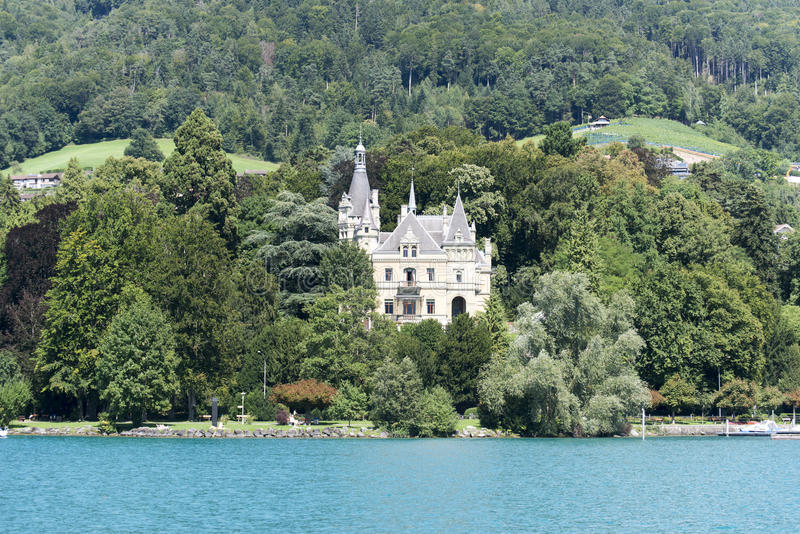 Oberhofen, Svizzera fotografia stock libera da diritti