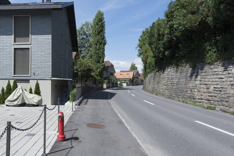 Oberhofen, Svizzera immagine stock libera da diritti