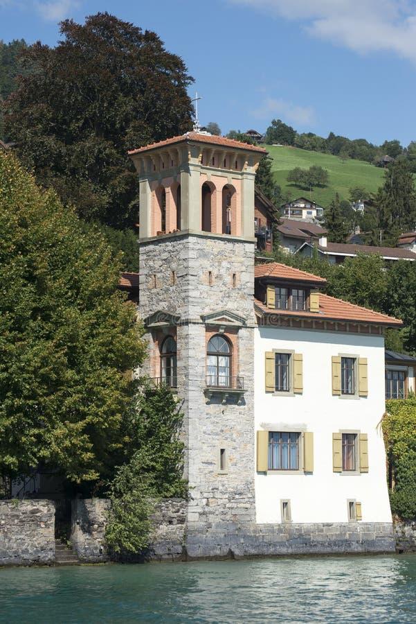 Oberhofen, Svizzera fotografie stock