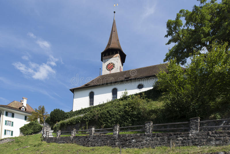 Oberhofen, Svizzera immagine stock