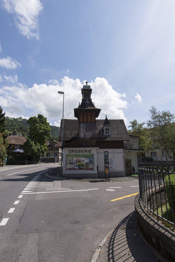 Oberhofen, Svizzera immagini stock