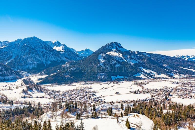 Oberjoch no inverno fotografia de stock