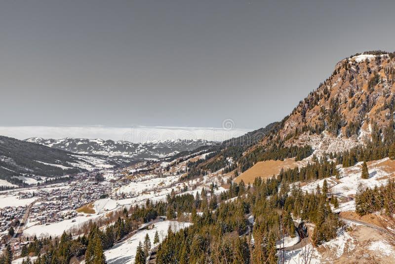 Oberjoch no inverno fotos de stock