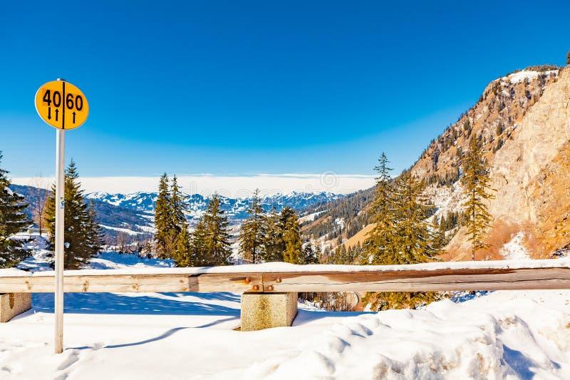 Oberjoch no inverno imagens de stock royalty free