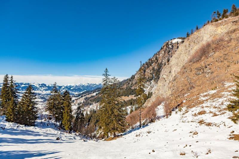 Oberjoch no inverno imagem de stock royalty free
