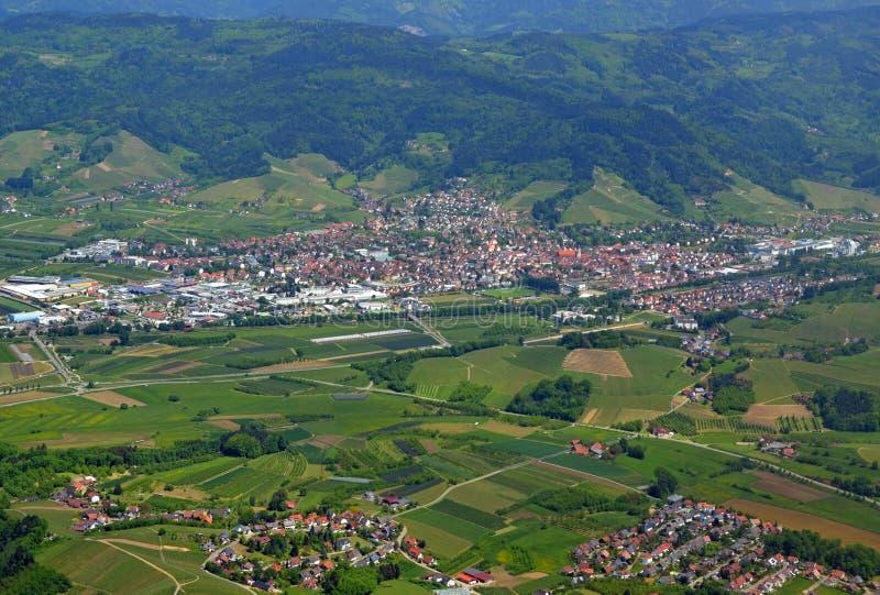 Oberkirch Renchtal Ortenau, lucht royalty-vrije stock foto's