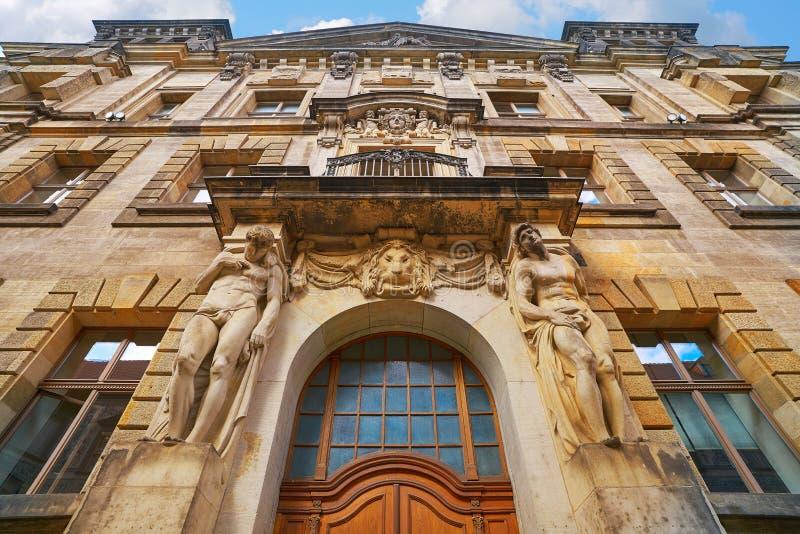 Oberlandesgericht building door Dresden Germany stock photos