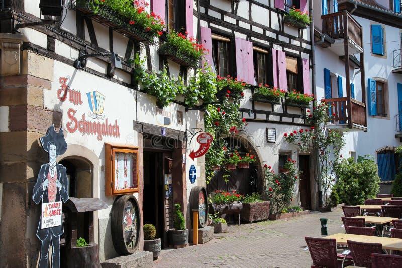 Obernai, de Elzas, Frankrijk royalty-vrije stock afbeeldingen