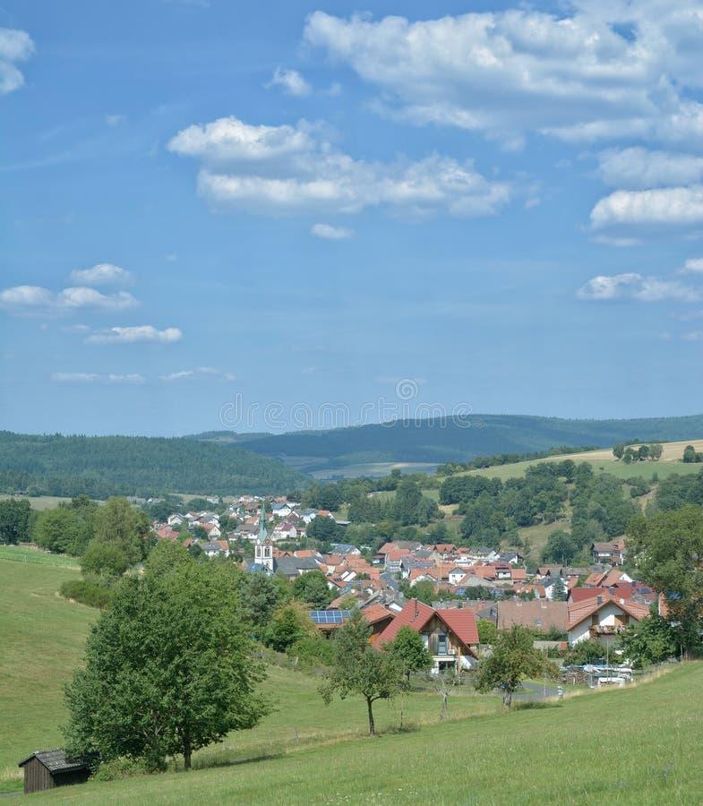 Oberndorf, Spessart, Hesse, Niemcy fotografia royalty free