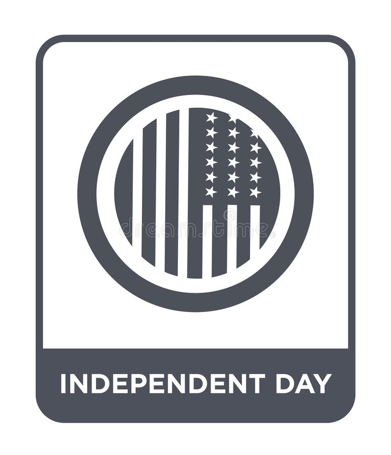 oberoende dagsymbol i moderiktig designstil oberoende dagsymbol som isoleras på vit bakgrund oberoende enkel dagvektorsymbol stock illustrationer