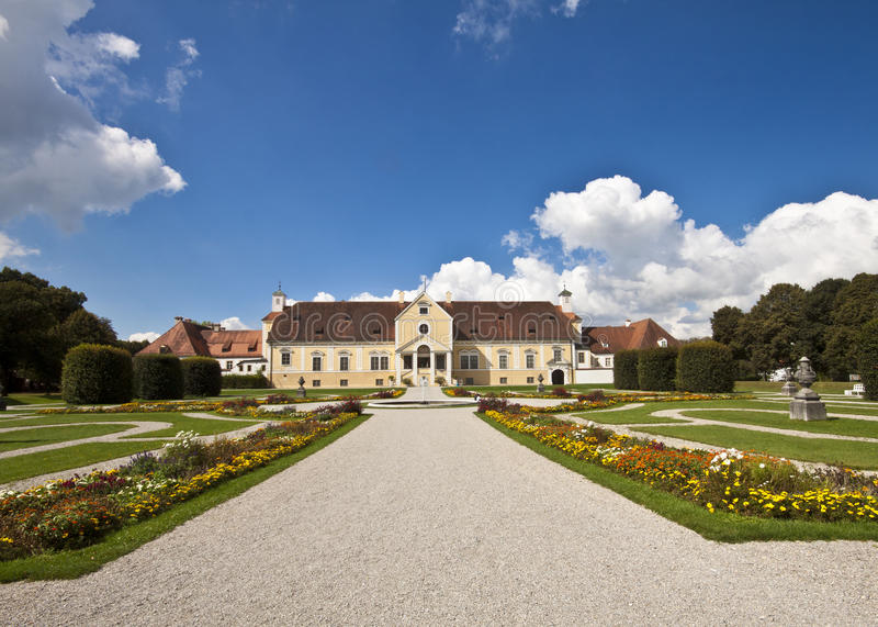 Oberschleissheim, Германия - старый дворец Schleissheim в Renaiss стоковое фото