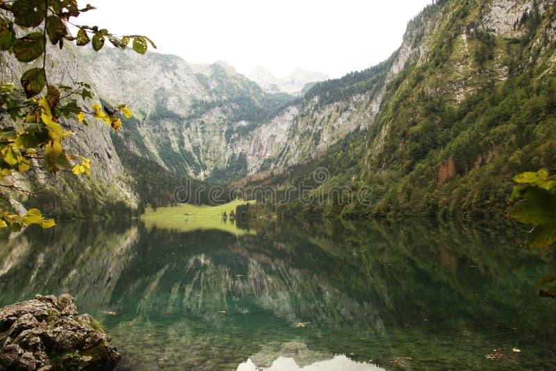 Obersee del koenigsee vicino berchtesgaden fotografie stock