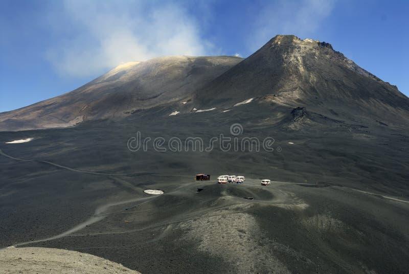Oberseite des Ätna-Vulkans lizenzfreie stockfotos